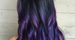رنگ موی بادمجونی مدیا